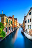 Venice cityscape, water canal, bridge and traditional buildings. Italy Royalty Free Stock Photography