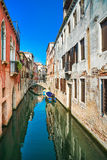 Venice cityscape, water canal and traditional buildings. Italy Royalty Free Stock Images