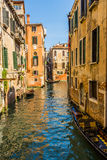 Venice cityscape, water canals and traditional buildings. Italy, Europe Royalty Free Stock Images