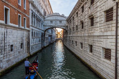 Venice cityscape, water canals and traditional buildings. Italy, Europe Stock Photography