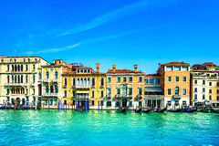 Venice cityscape, water grand canal and traditional buildings. I Stock Photos