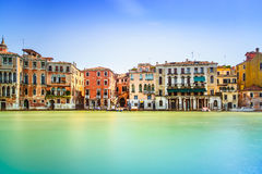 Venice cityscape, water grand canal and traditional buildings. I Royalty Free Stock Photo
