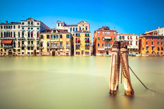 Venice cityscape, water grand canal and traditional buildings. Italy. Stock Photo