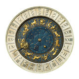 Venice clock tower. Ancient Venice clock tower, close up royalty free stock photography