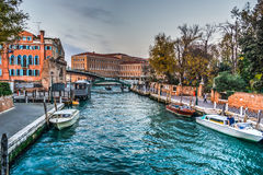 Venice on a cloudy day at sunset Royalty Free Stock Photography