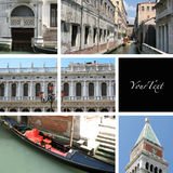 Venice Collage Stock Photography