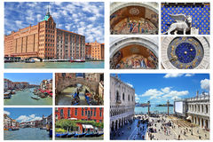 Venice collage - Italy Stock Photos