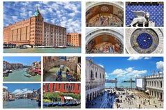Venice collage - Italy Stock Photos