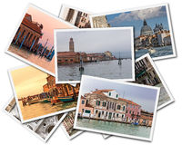 Venice Collage. Collage of photos of Venice Italy isolated on the white background Stock Photos