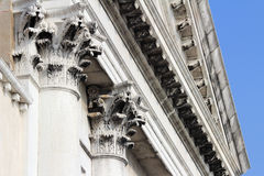 Venice colonnade. Italy. Venice - the Pearl of Italy. Detail of colonnade near Piazza San Marco. Low angle Stock Images