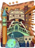 Venice colored drawing Stock Photos