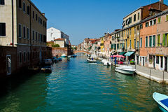 Venice colorful Canal Royalty Free Stock Images