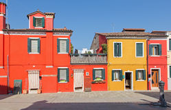 Venice - Colorful houses of Burano island Stock Images