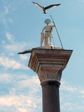 Venice - Column of St. Teodoro of Amasea Royalty Free Stock Image