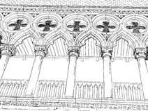 Venice. Columns of the Doge's Palace. Royalty Free Stock Photos
