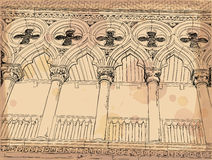Venice. Columns of the Doge's Palace Stock Photography