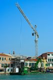 Venice, the construction of the house Stock Photos