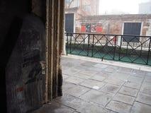 Venice. Corto Maltese design on a wall in Venice Stock Photos