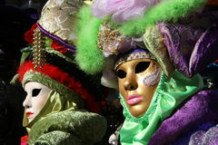 Venice. A couple of masks of Venice carnival stock image