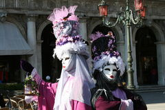 Venice. A couple of masks of Venice carnival Stock Photography