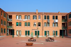 Venice, the courtyard of the house on the island of Murano Royalty Free Stock Images