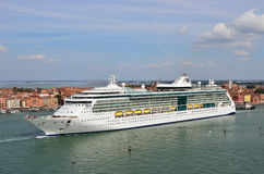 Venice, cruise ship Royalty Free Stock Images