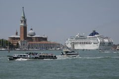 Venice Cruise ship Royalty Free Stock Image