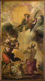 Venice - Decapitation of st. Paul (1556) by Jacopo Robusti (Tintoretto) in presbytery of church Santa Maria dell Orto. Stock Photography
