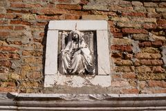 Venice in Detail: Artistic Craftsmanship throughout the city. Focus on details of Venetian artistry on display throughout the city, including sculptures Royalty Free Stock Images