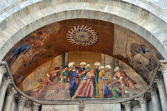 Venice, detail of a byzantine mosaic Stock Images