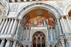 Venice, detail of a byzantine mosaic Stock Photo