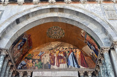 Venice, detail of a byzantine mosaic Stock Photos