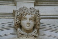 Venice, detail of a monument stock photography