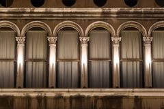 Venice details. Architectural details of Venice curtains, Italy Royalty Free Stock Photo