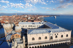 Venice with Doge palace in Italy Stock Photography