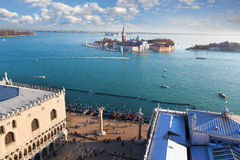 Venice with Doge palace in Italy royalty free stock photos