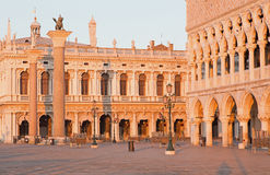 Venice - Doge palace and Piazza San Marco Royalty Free Stock Photography