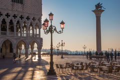 Venice - Doge palace and Saint Mark square Stock Images