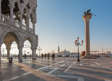 Venice - Doge palace and Saint Mark square Stock Photography