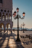 Venice - Doge palace and Saint Mark square in morning light. Royalty Free Stock Photos
