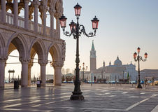 Venice - Doge palace and Saint Mark square Royalty Free Stock Images