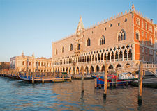 Venice - Doge palace and and waterfront Royalty Free Stock Photo