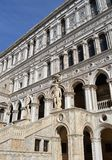 Venice Doge' s Palace. The Doge's Palace (Italian: Palazzo Ducale) is a palace built in Venetian Gothic style, and one of the main landmarks of the city of royalty free stock photography