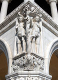 Venice - The Doge's Palace. A closer view of the corner of the Doge's Palace - Palazzo Ducale Royalty Free Stock Image