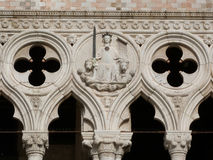 Venice. The Doge´s Palace with detail of decoration Royalty Free Stock Images