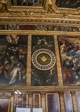 Venice. The Doge`s Palace, the Hall of the College. Italy, Venice. The Doge`s Palace, the Hall of the College was intended for meetings of the College of Sages stock images