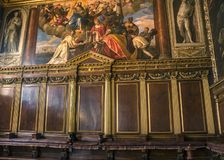 Venice. The Doge`s Palace, the Hall of the College. Italy, Venice. The Doge`s Palace, the Hall of the College was intended for meetings of the College of Sages royalty free stock photos