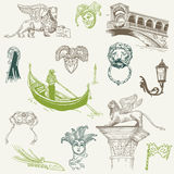 Venice Doodles - hand drawn Royalty Free Stock Image