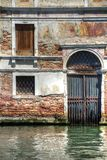 Venice Door with Canal Royalty Free Stock Images