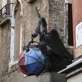 Venice, dragon with lamp royalty free stock photography
